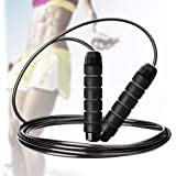Cabepow Adjustable Jump Rope with Carrying Pouch - Cardio Jumping Rope for Men, Women, and Children of All Heights and Skill Levels - for Skipping Rope, Crossfit Training, Boxing, and MMA Workouts