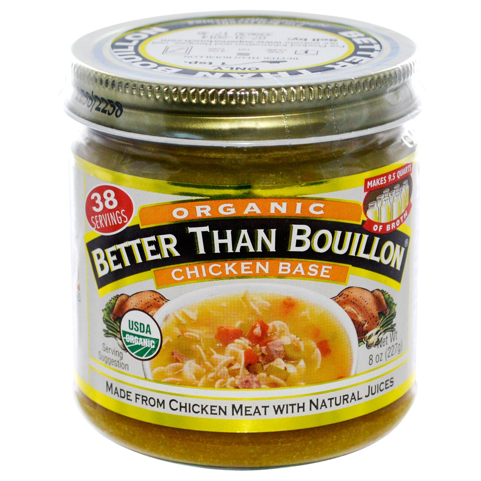 Better Than Bouillon, Organic, Chicken Base, 8 oz (227 g) - 2PC