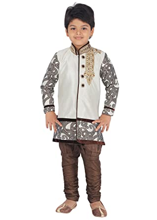 e5e329e3e78 Amazon.com  Ahhaaaa Kids Ethnic Indian Festive and Party Wear Designed  Sherwani and Breeches Set for Boys  Clothing