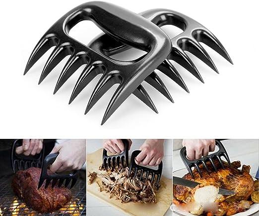 pollos,pescados,jam/ón,Set de 2 unidades iNeibo tenedor barbacoa,pinzas cocina,pinzas barbacoa en forma garras para carne accesorio perfecto para desmenuzar grandes trozos de carne