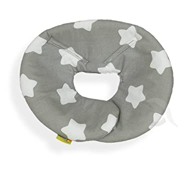 SM white star//grey head support for Maxi Cosi Pebble Head hugger