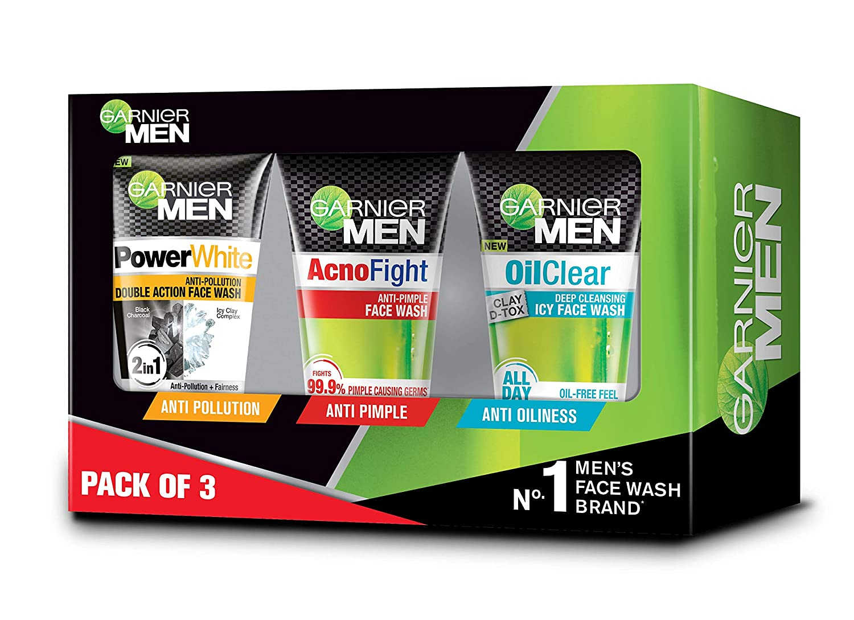 Garnier Men Face Wash Combo Pack (Pack of 3)