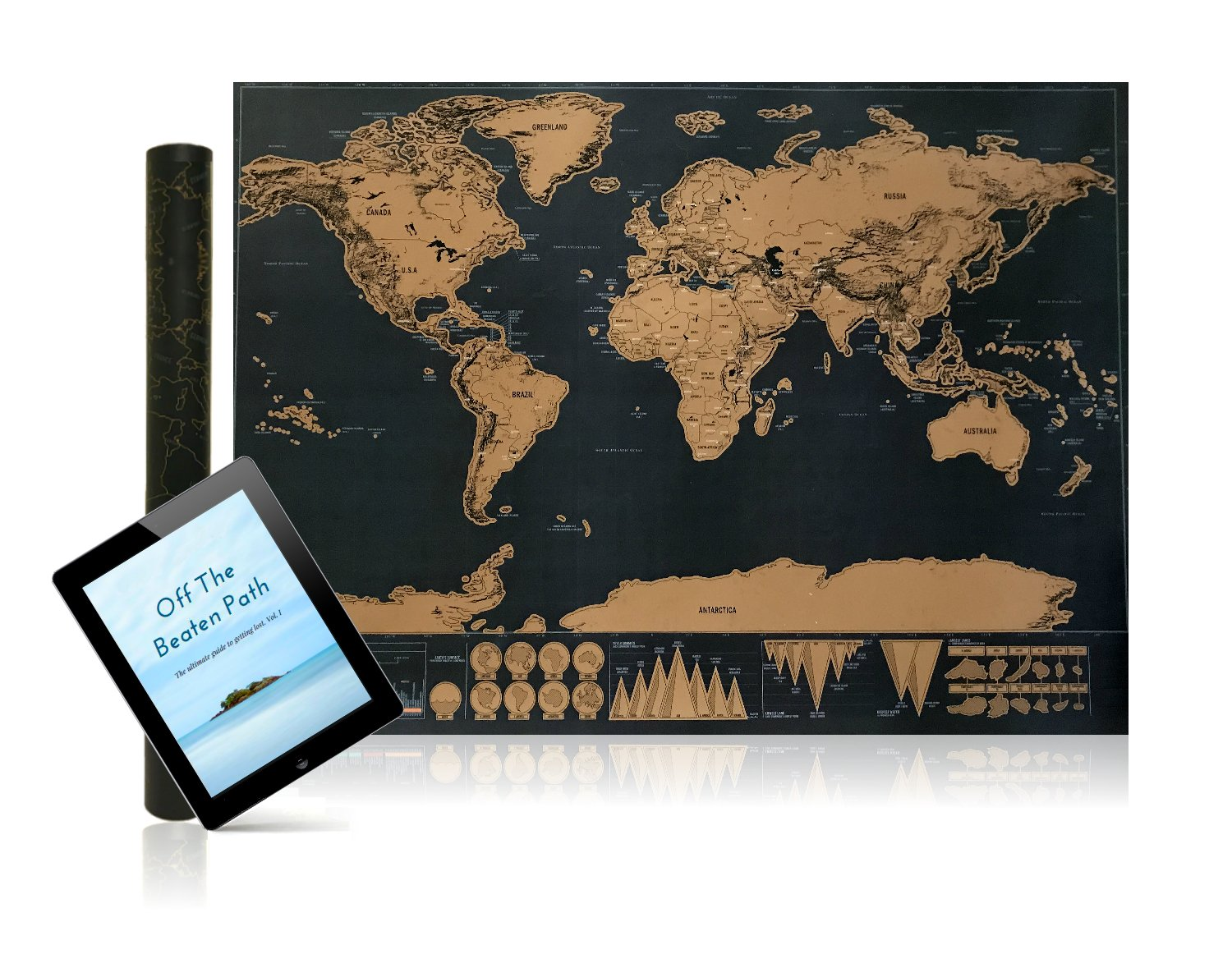 Scratch off map world poster sharp black gold surface free your journey matters map gumiabroncs Images