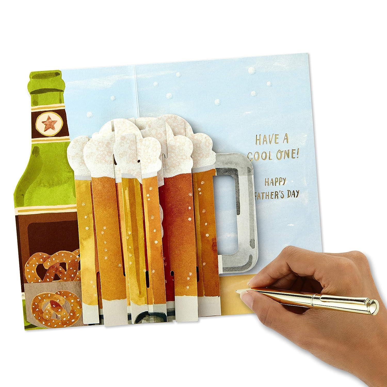 Hallmark Paper Wonder Carte pop-up pour la f/ête des p/ères Inscription Have A Cool One Beer Mug Taille moyenne