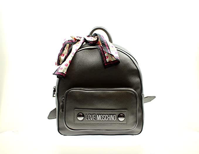 LOVE MOSCHINO ZAINETTO PIN GRAIN PU NERO JC4323PP06KW0000