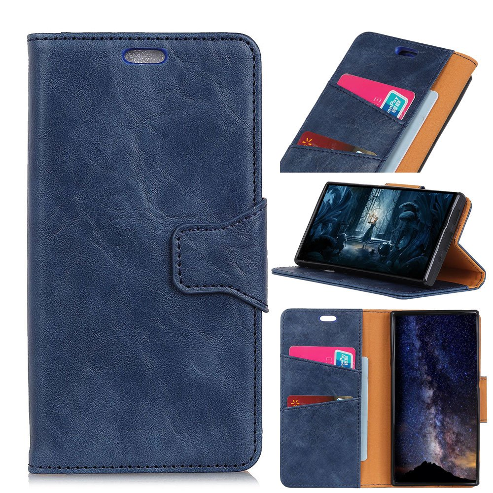 TOTOOSE Huawei Y7 Prime 2018 Case, [Portable Wallet ] [ Slim Fit ] Heavy Duty Protective Pouch Flip Cover Wallet Case for Huawei Y7 Prime 2018 - Blue