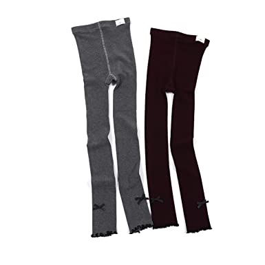 8285b2ea048 Amazon.com  Leggings For Girls Footless Tights Ankle Length Pants For  Toddler Tights 2 Pack  Clothing