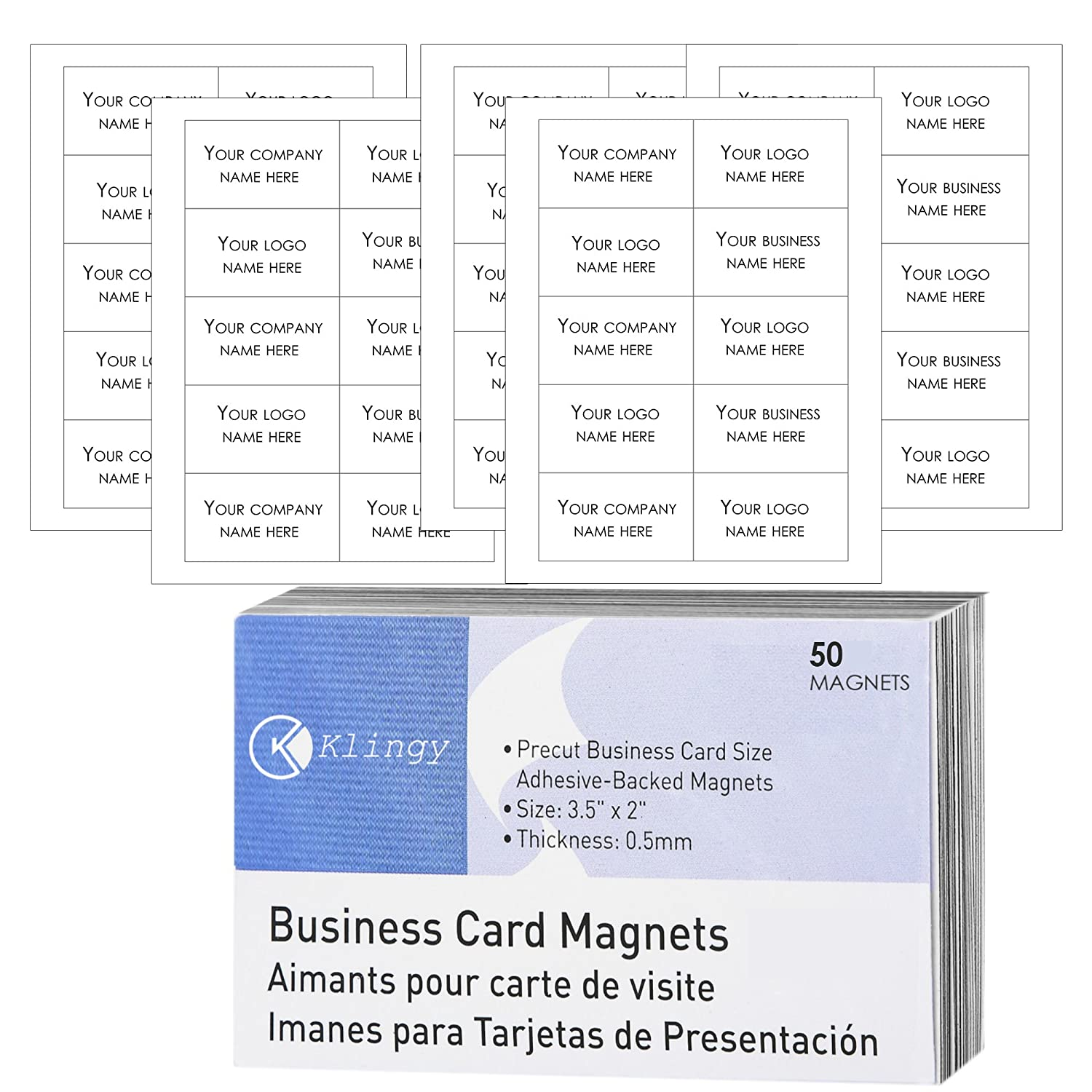 Business Card Magnets Self Adhesive Peel And Stick Magnetic