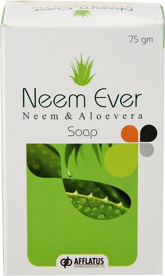Afflatus Neemever Herbal Neem Soap 75gm For skin care and