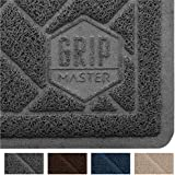 GRIP MASTER Premium Cat Litter Trapping Mats, Phthalate Free, Best Scatter Control, Jumbo XL Sizes, Mat Traps Litter, Easy to Clean, Soft on Kitty Paws