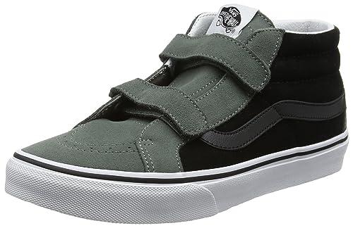 d55c54391c Vans Kids Sk8-Mid Reissue V (2-Tone) Castor Gray Black Skate Shoe ...