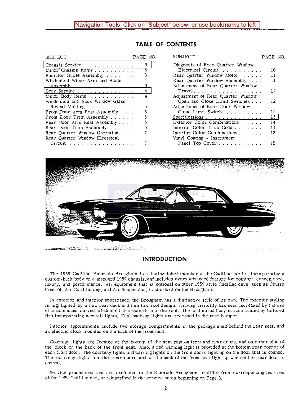Amazon.com: 1959 1960 Cadillac 60 62 75 Fleetwood Shop Service Repair Manual  CD Factory OEM: Automotive