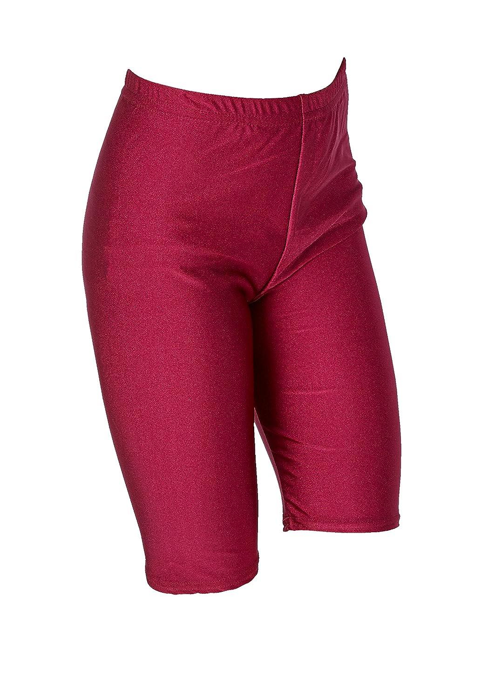 Pantaloncini Donna Ragazze Scuola PE Sport Fitness Danza Ginnastica Lycra Cotone Stretch