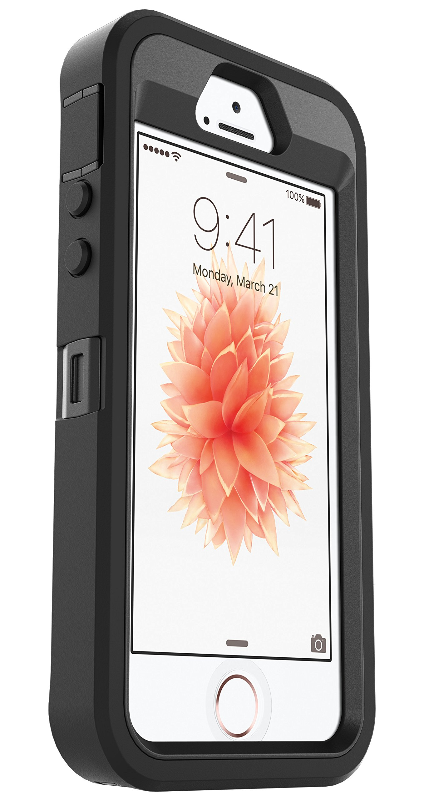 OtterBox Defender Series Case for Apple iPhone SE, iPhone 5s, iPhone 5 (Case Only, No Holster) Non-Retail Packaging - Black by OtterBox