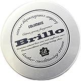[コロンブス] COLUMBUS Brillo ブリオ (皮革用ツヤ出しワックス レザー コンディショニング クリーム)(クロス付き) 革 革財布 バッグ・革小物メンテナンス用品