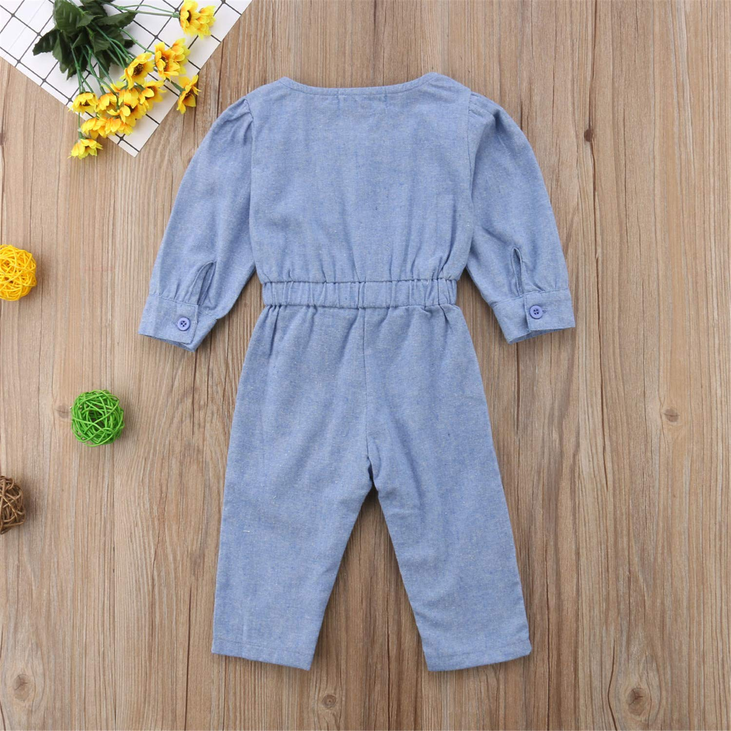 0-3Y Newborn Toddler Infant Girl Denim Clothes Lengthy Sleeve Soft Cotton Romper Jumpsuit Playsuit Outfits Princess or Queen Prince
