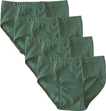 HERMKO 2850 Pack de 4 Slips de Color de niño, algodón orgánico 100% elástico
