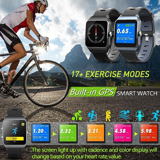 MorePro - Reloj Inteligente con GPS y 17 Modos Deportivos ...