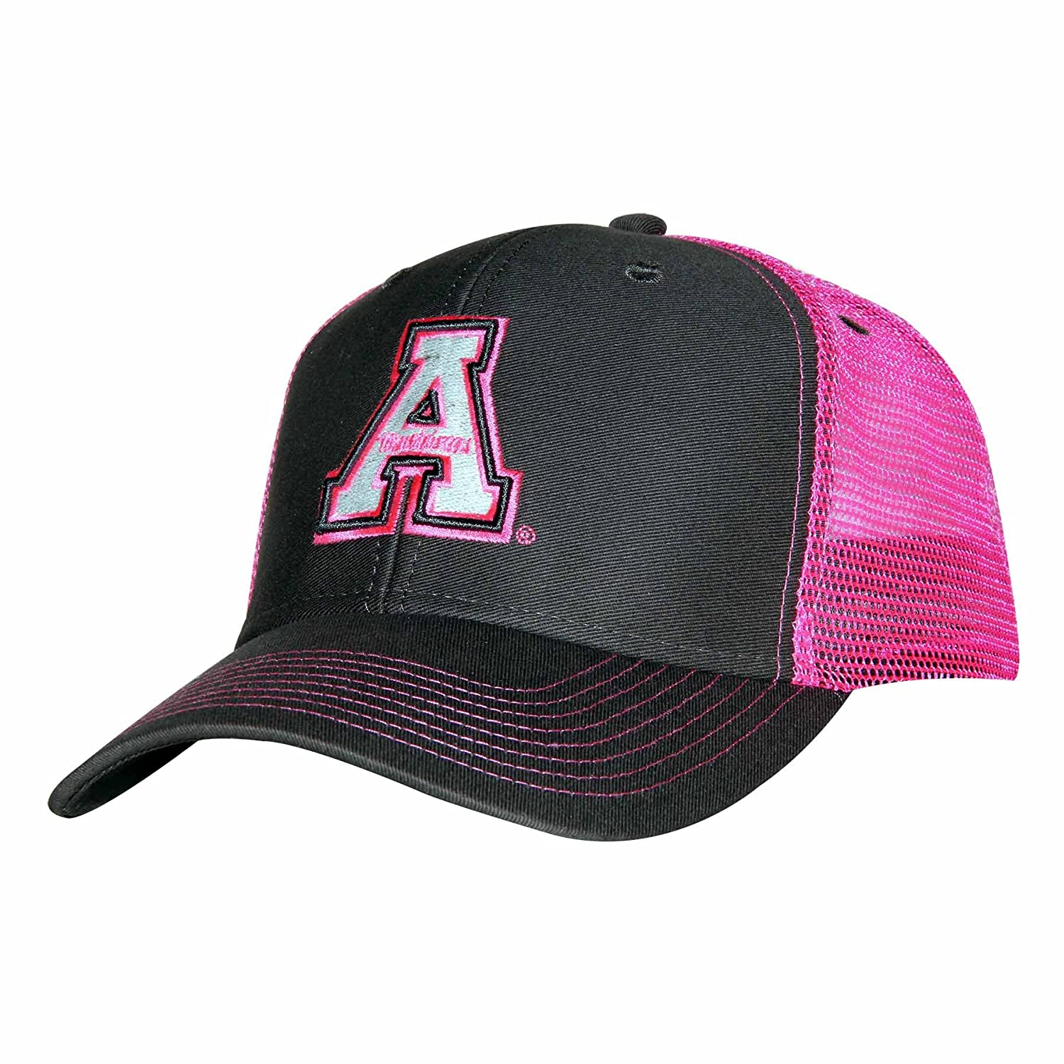wholesale dealer b1c7f 44f70 Amazon.com   Ouray Sportswear NCAA Appalachian State Mountaineers Sideline  Cap, Adjustable Size, Dark Grey Neon Pink   Sports   Outdoors