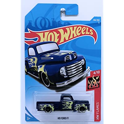 Hot Wheels Mattel 2020 Hw Flames - '49 Ford F1 Truck (Blue) 266/365: Toys & Games