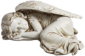 Joseph Studio 40070 Long Sleeping Girl Angel Statue, 11.75-Inch