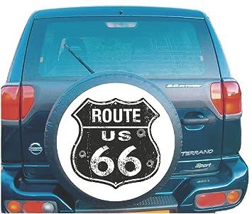 Ruta 66 Pegatina de cubierta para rueda de repuesto para 4 x 4 o autocaravana: Amazon.es: Coche y moto