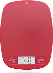 GreaterGoods Digital Food Kitchen Scale (Cherry Red), Portion helps support the charity Love146