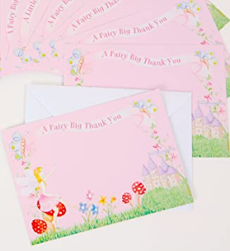 Frilly lily fairy thankyou cards with envelopes pack of 10 frilly lily fairy thankyou cards with envelopes pack of 10 thecheapjerseys Images