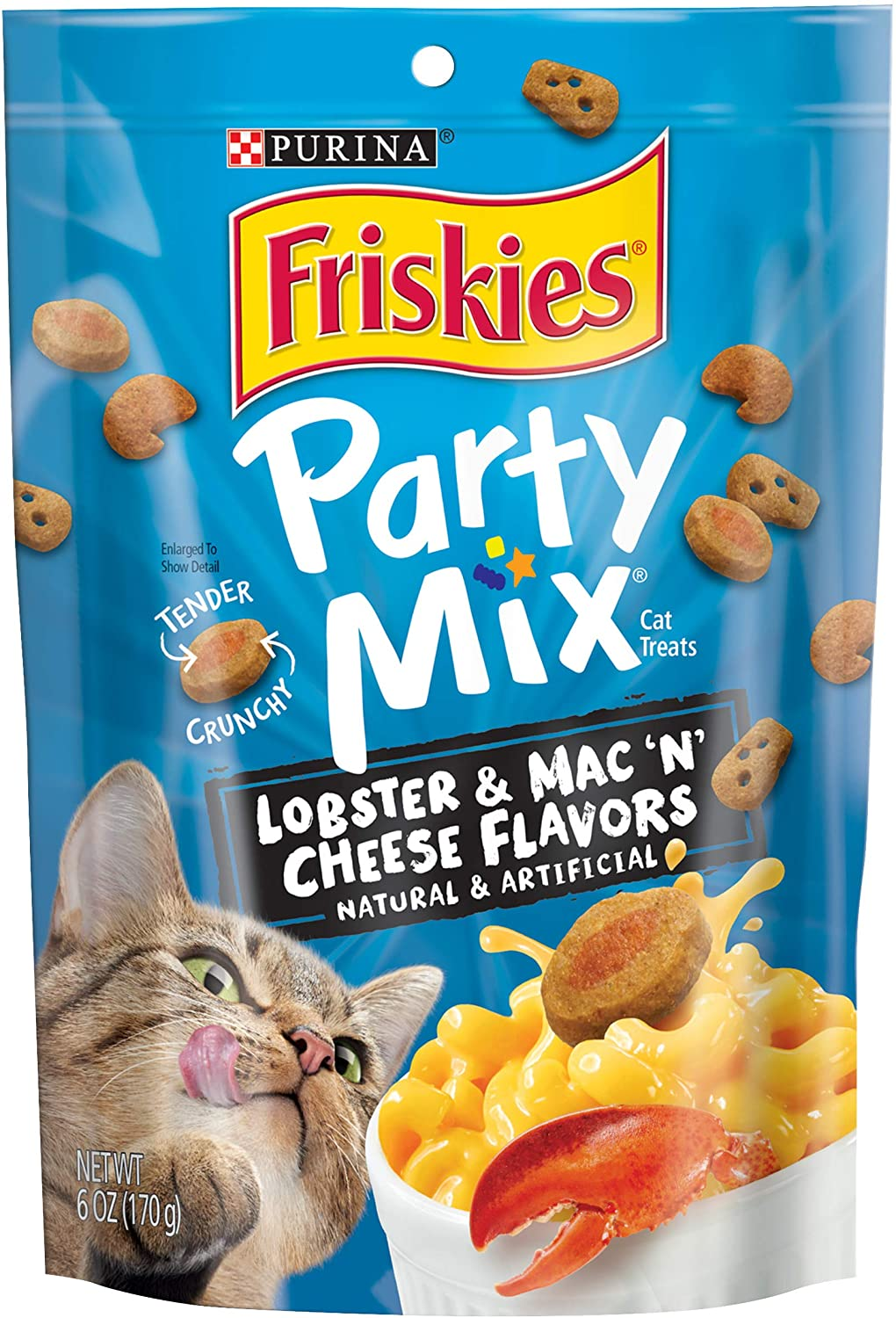 Purina Friskies Party Mix Adult Cat Treats - (6) 6 oz. Pouches