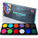 Professional Face Paint Kit - by Blue Squid PRO, 12x10g Classic Color Palette, 𝗡𝗘𝗪 Professional Face & Body Painting…
