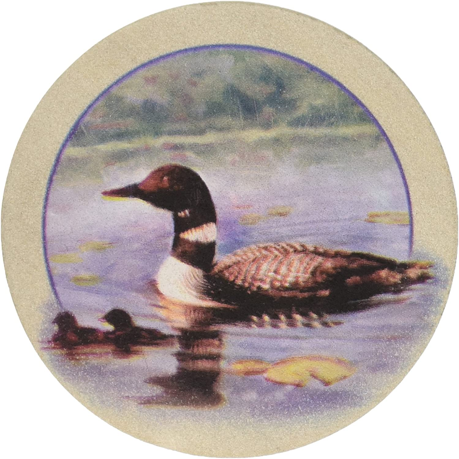 Multicolor Thirstystone Stoneware Loons Coaster
