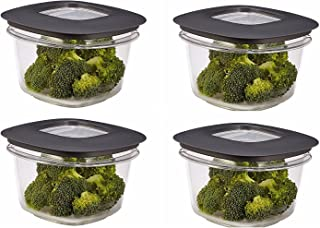 product image for Rubbermaid Premier Food Storage Container, 2 Cup, Grey (4 Pack)