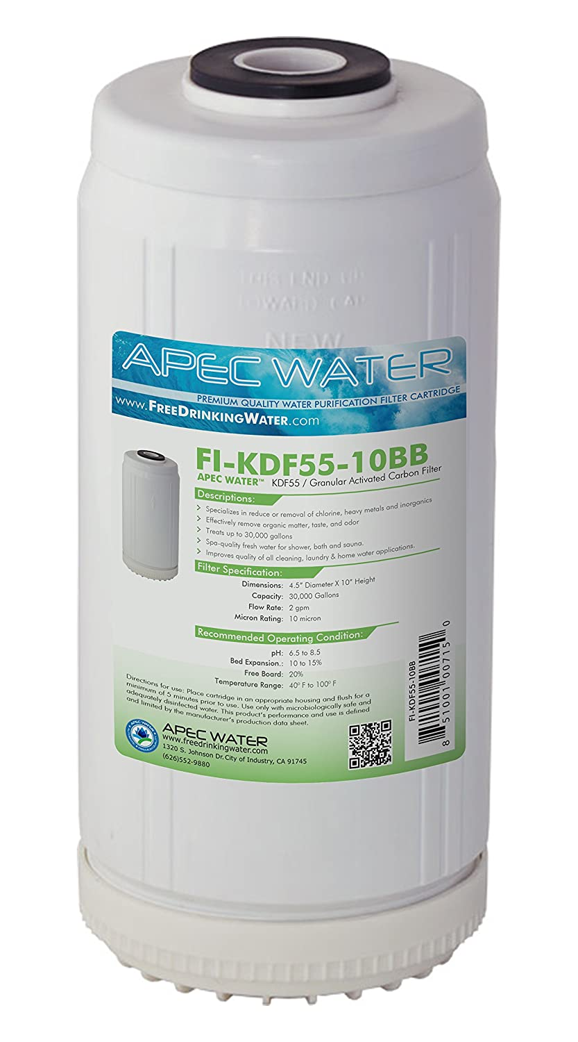APEC Water Systems FI-KDF55-10BB 10 US Made Whole House Replacement Water Filter Chlorine Heavy Metal and Bacteria Removal