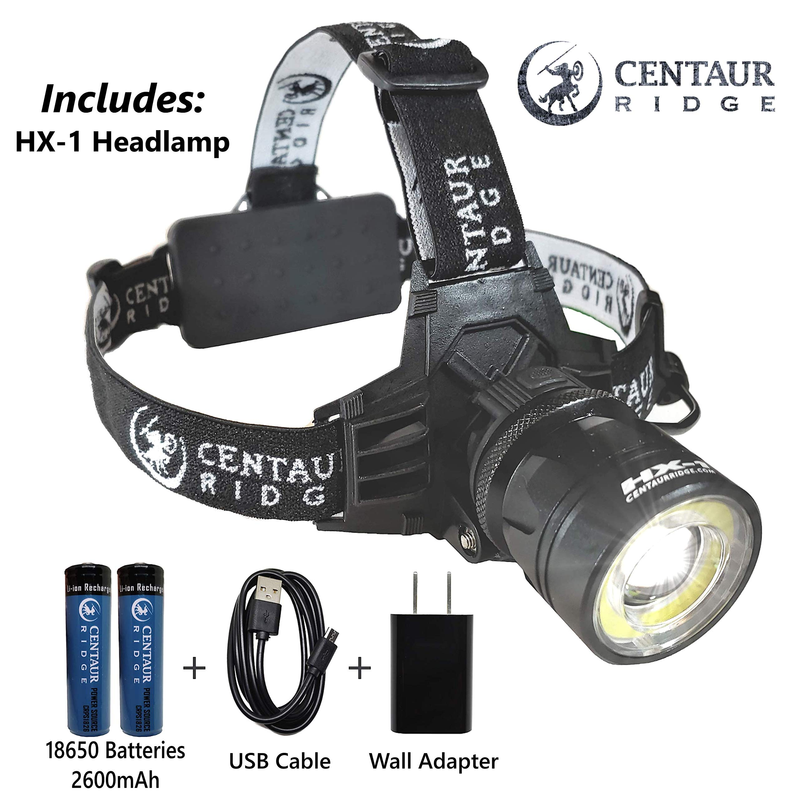 Centaur Ridge Headlamp - Xtreme Bright, 1000 Lumen CREE LED, Zoomable, USB Rechargeable | Best Flashlight for Camping, Hiking, Running, Work by Centaur Ridge (Image #3)