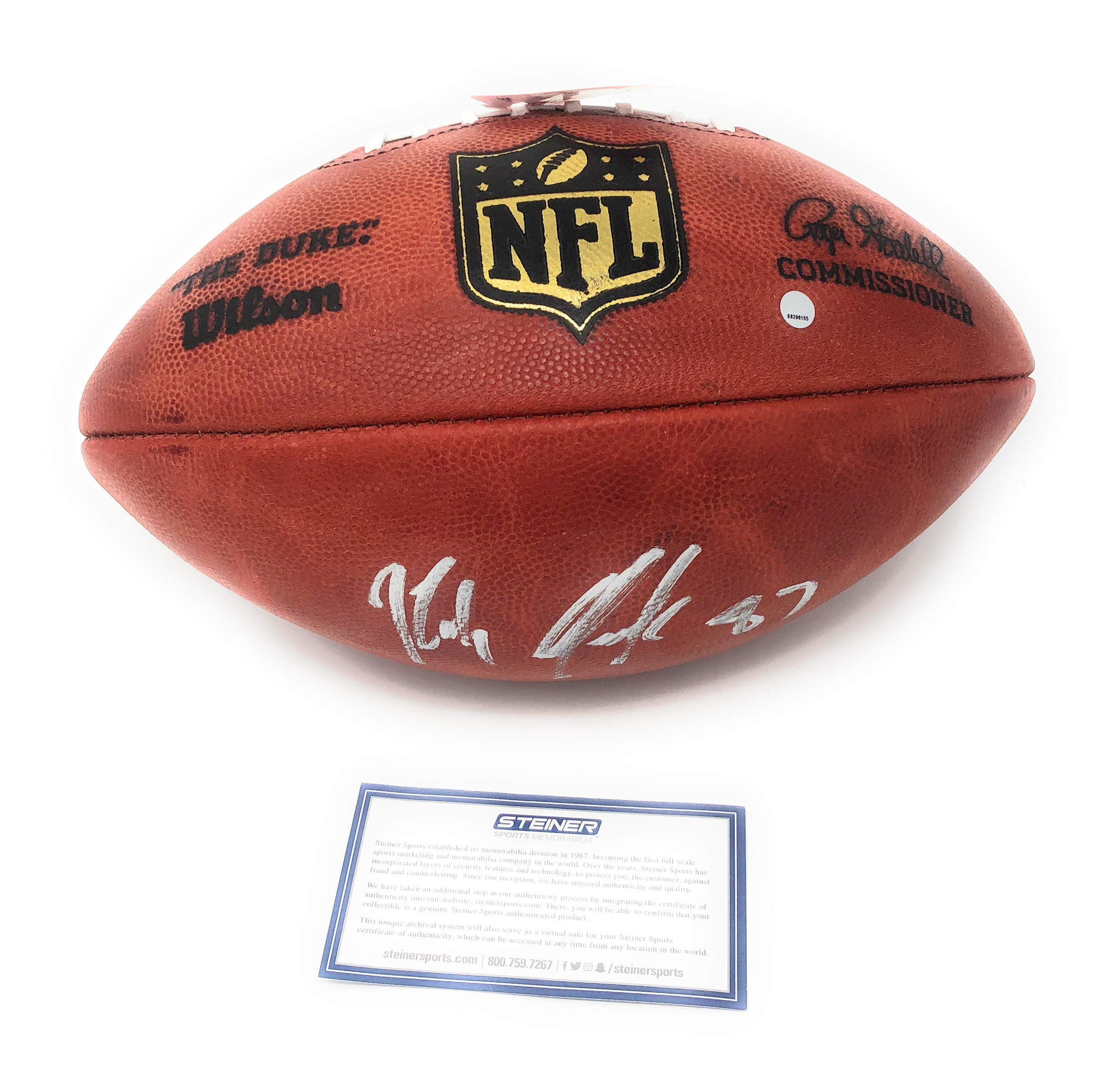 Rob Gronkowski New England Patriots Signed Autograph Authentic NFL Duke Football Steiner Sports Certified