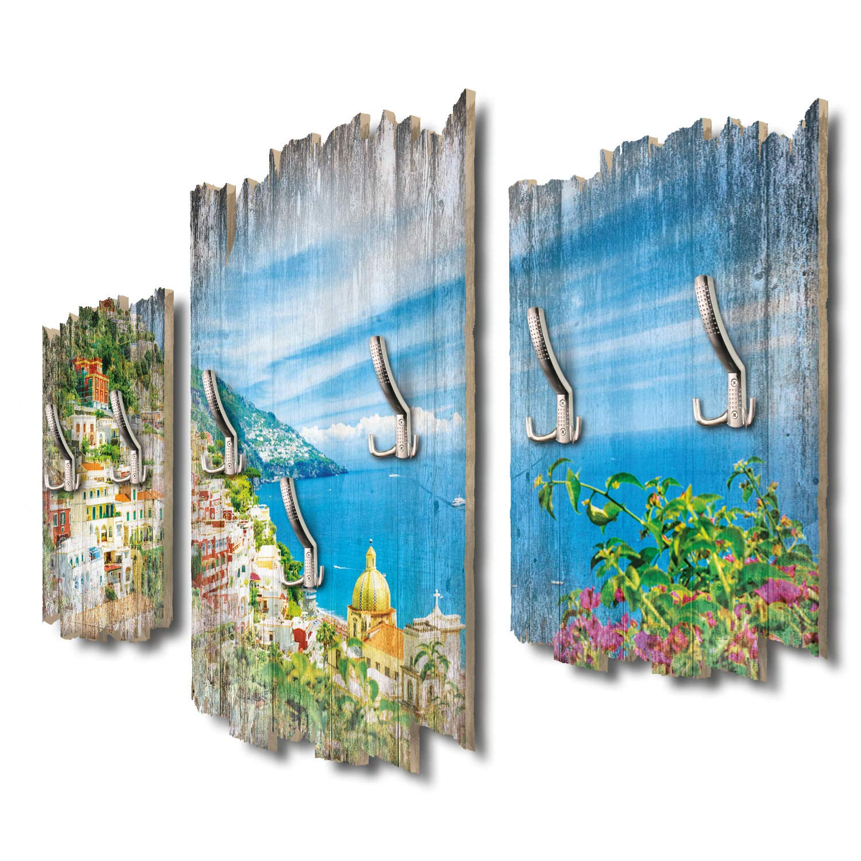 Kreative Feder Meerblick Italien Designer Wandgarderobe Flurgarderobe Wandpaneele 95 x 60 cm aus MDF-Holz DTGH022