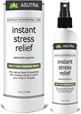 """ASUTRA Premium Aromatherapy Mist -""""INSTANT STRESS RELIEF"""" - Melt Your Tensions Away, 100% ALL NATURAL & ORGANIC Room & Body Mist, Essential Oil Blend - Patchouli & Bergamot - 100% GUARANTEED"""