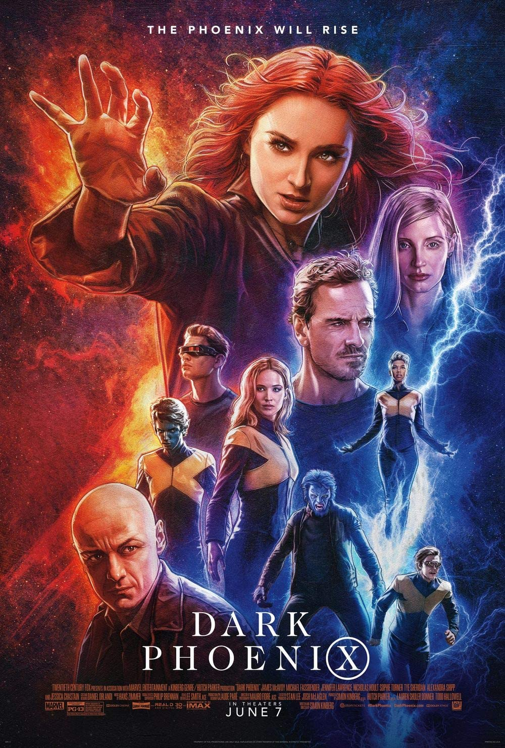 Amazon.com: hotprint X-Men Dark Phoenix - Movie Poster Wall Decor - 18 by  28 inches. (NOT A DVD): Posters & Prints