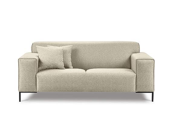 Cosmopolitan Design - Sofá, 2 plazas, Beige, 194 x 92 x 92 ...