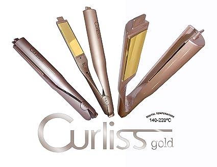 Plancha de Pelo para Ondas, Bucles y Rizos Profesional Titanio Curliss Gold by AGV