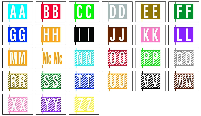 COL-R-TAB COMPATIBLE 69703960 12000 Permanent Color Code Label, Mylar,  Alphabet, 1 1/2