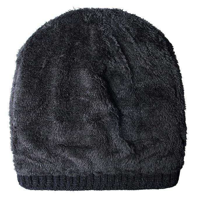 b6d2f4a33d4 Loritta Mens Winter Warm Knitting Hats Wool Baggy Slouchy Beanie Hat Skull  Cap at Amazon Men s Clothing store