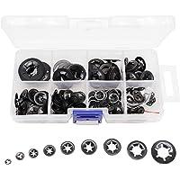 260pcs[9 Sizes] Black Starlock Internal Tooth Lock Washers Assortment Kit, M2/ M2.5/ M3/ M4/ M5/ M6/ M8/ M10/ M12