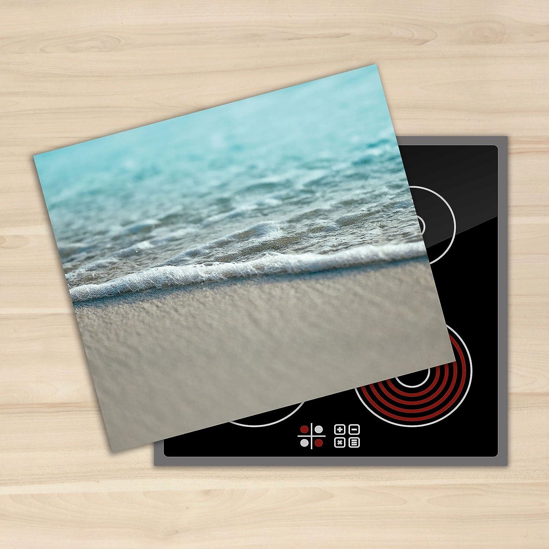 Glass Chopping Board Induction Ceramic Hob Cover Worktop Saver 60x52cm DIAMOND