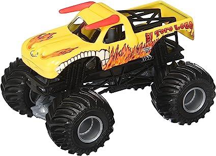 Amazon Com Hot Wheels Monster Jam El Toro Loco Yellow Truck Toys Games
