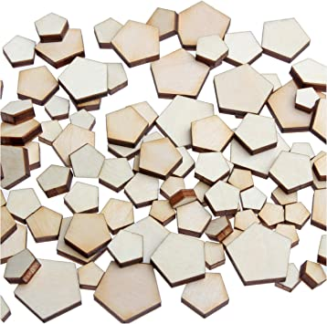 100pcs Wooden Cute Star Shape Small Wood Piece Wedding Table Scatter Decor US