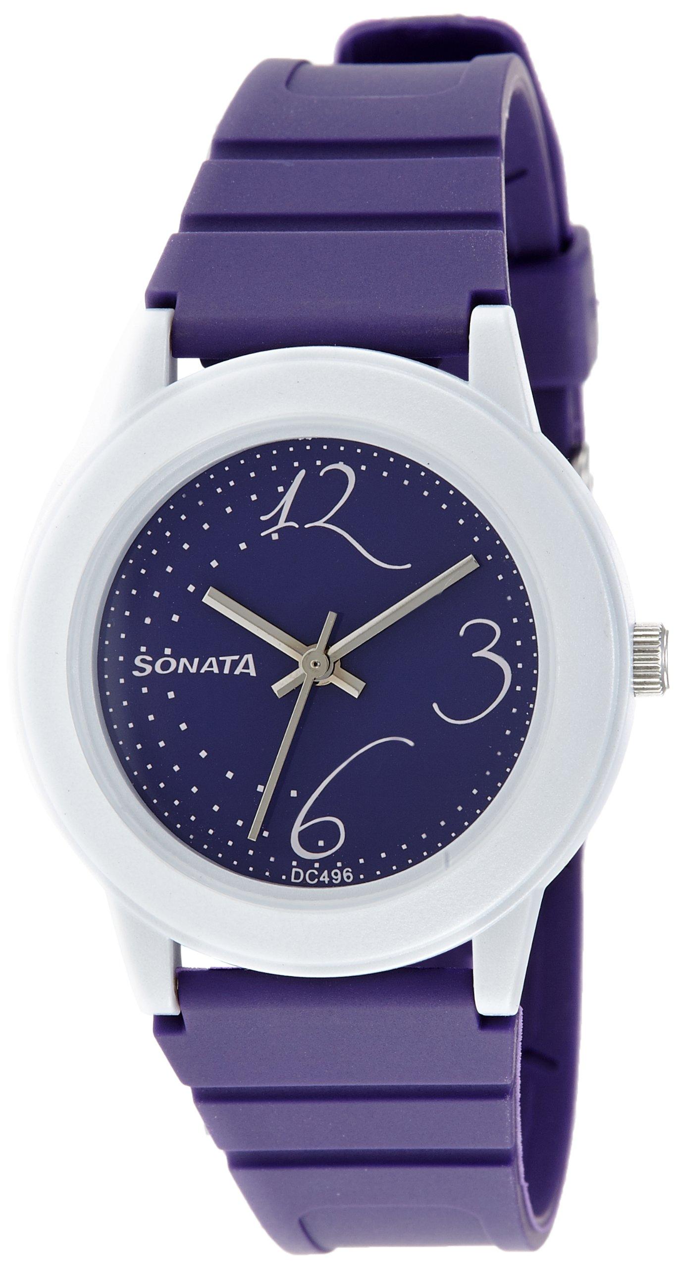 Sonata Fashion Fibre Analog Black Dial Women's Watch -NJ8992PP02C product image
