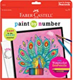 Faber-Castell - Paint By Number Peacock Art Kit - Premium Kids Crafts