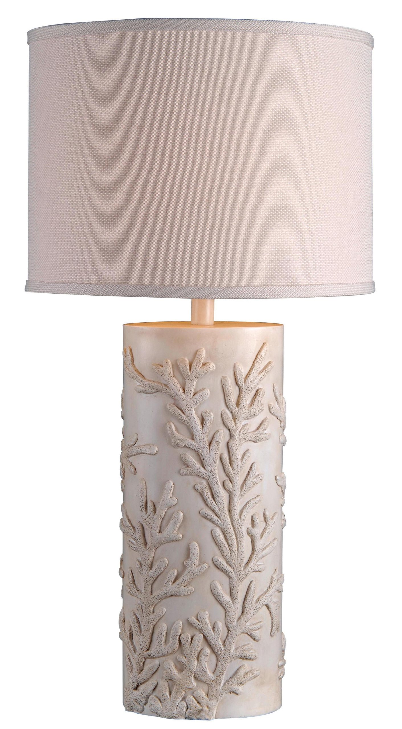 Kenroy Home 32267AWH Reef Table Lamp, Antique White Finish