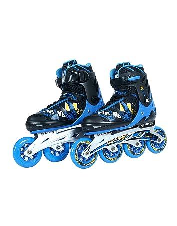 2bf02eda692 Buy Kamachi (90mm) K-707 Aluminium Inline Skates (Blue/Black) Online at Low  Prices in India - Amazon.in